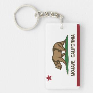 Mojave de la bandera de la república de California Llavero Rectangular Acrílico A Doble Cara