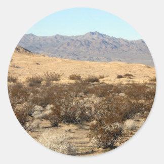 Mojave Desert scene 04 Round Stickers