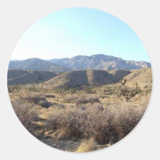 Mojave Desert scene 05 Classic Round Sticker