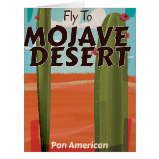 Mojave Desert USA Vintage travel poster. Card