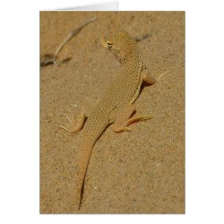 Mojave Fringe-Toed Lizard Desert Photography Card