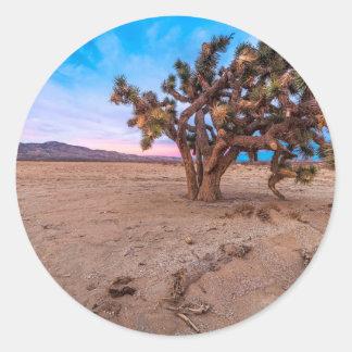 Mojave Joshua Tree Classic Round Sticker