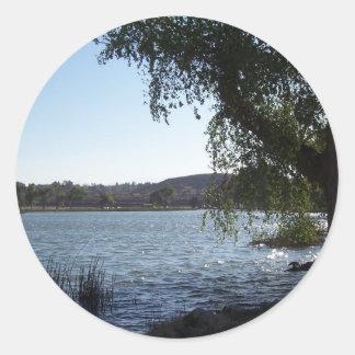 Mojave Narrows Lake Classic Round Sticker