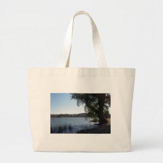 Mojave Narrows Lake Large Tote Bag