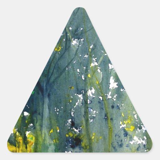 Moje en acuarela mojada calcomanías triangulos