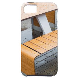 Moje las tablas al aire libre del café en la calle iPhone 5 carcasas