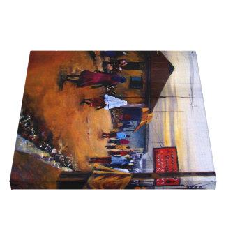 Moji 2, Mojisola una pintura de Gbadamosi Impresión En Lona