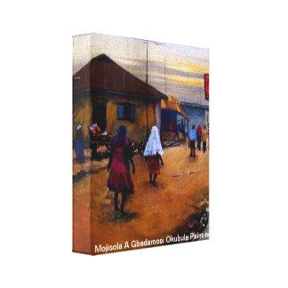 Moji 2, Mojisola una pintura de Gbadamosi Okubule Impresión En Tela