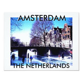 "Mojisola A Gbadamosi Amsterdam vacations photgraph 4.25"" X 5.5"" Invitation Card"