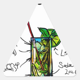 Mojito Cocktail Recipe Triangle Sticker
