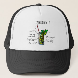 Mojito Cocktail Recipe Trucker Hat