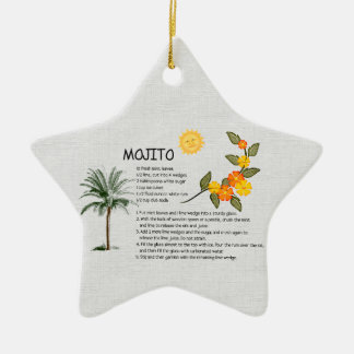 Mojito Double-Sided Star Ceramic Christmas Ornament