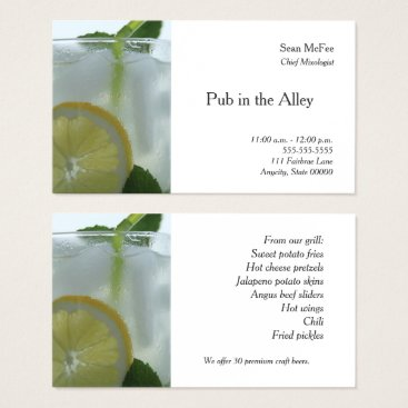 Professional Business Mojito drink business card