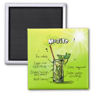 Mojito Recipe - Cocktail Gift Magnet