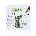 Mojito Recipe - Cocktail Gift Postcard
