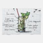 Mojito Recipe - Cocktail Gift Towel
