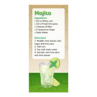 Mojito Recipe Rack Card