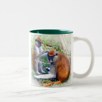 Mojo and Camille Two-Tone Coffee Mug