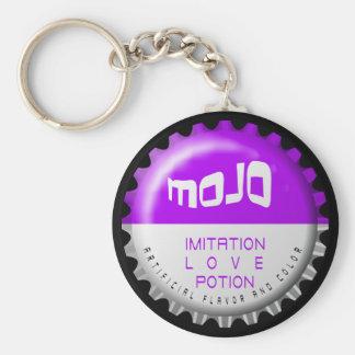 Mojo Basic Round Button Keychain