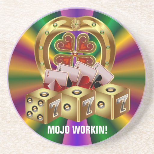Mojo Fast Luck Beverage Coasters