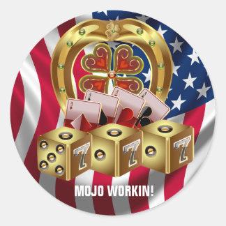 Mojo Fast Luck  Mojo Workin! Classic Round Sticker