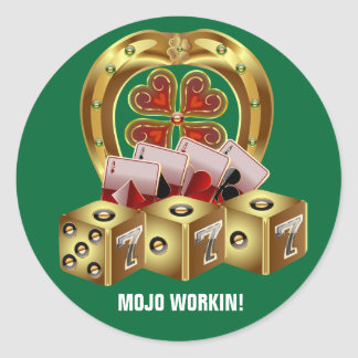 Mojo Fast Luck  Mojo Workin! Classic Round Sticker