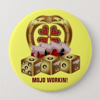 Mojo Fast Luck  Mojo Workin! Pinback Button