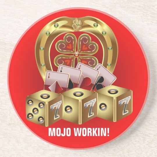 Mojo Fast Luck Sandstone Coaster