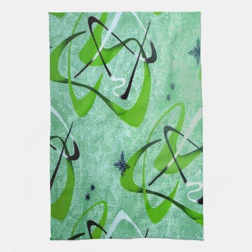 MoJo Kitchen Towel : BOOMERANG 2 - CHARTREUSE
