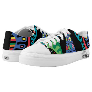 Mojo low tops printed shoes