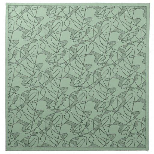 MoJo Napkin Set Of 4 : CONTEMPO - SEAFOAM GREEN