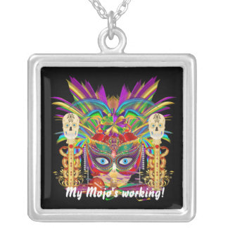 Mojo Priestess 2 Best view large View Notes Square Pendant Necklace