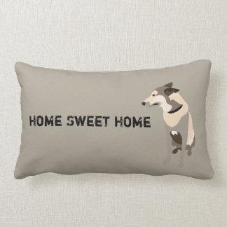 Mojo the Belgian Shepherd/Home sweet home Lumbar Pillow