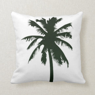 MoJo Throw Pillow, palm tree in black