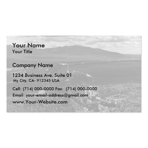 Mojón de piedra en tundra plantilla de tarjeta de visita