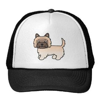 Mojón de trigo Terrier del dibujo animado lindo Gorros Bordados