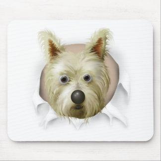 Mojón Terrier 1 que revienta hacia fuera Alfombrillas De Ratones