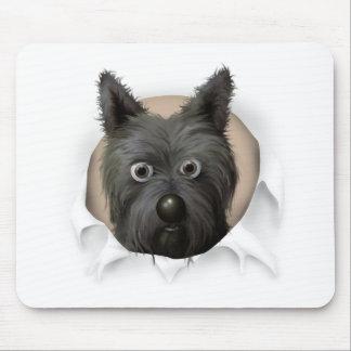 Mojón Terrier 2 que revienta hacia fuera Alfombrillas De Ratón