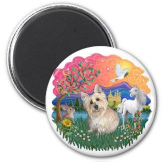 Mojón Terrier (3) de trigo Imán Redondo 5 Cm