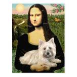 Mojón Terrier 4 - Mona Lisa Tarjeta Postal