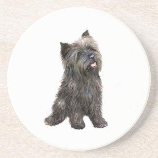 Mojón Terrier - brindle Posavaso Para Bebida