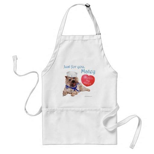 Mojón Terrier de la tarjeta del día de San Valentí Delantales