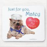 Mojón Terrier de la tarjeta del día de San Valentí Tapete De Ratones