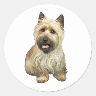 Mojón Terrier - de trigo con la máscara negra #2 Pegatina Redonda