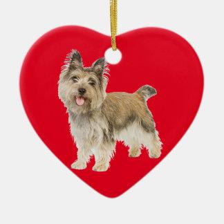 Mojón Terrier Adorno De Cerámica En Forma De Corazón