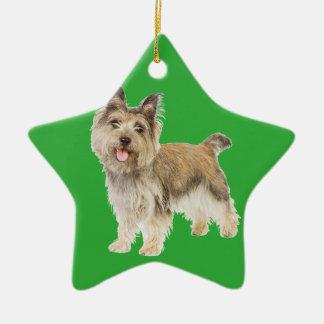 Mojón Terrier Adorno De Cerámica En Forma De Estrella