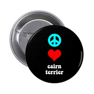 Mojón Terrier del amor de la paz Pin