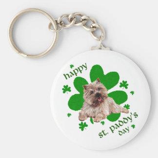 Mojón Terrier del día del St Paddys Llavero Personalizado