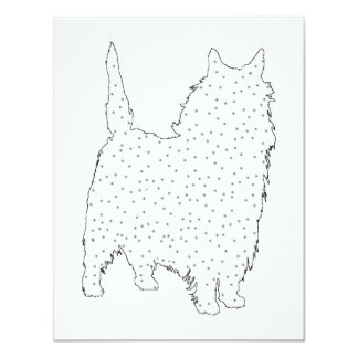 """Mojón Terrier Invitación 4.25"""" X 5.5"""""""