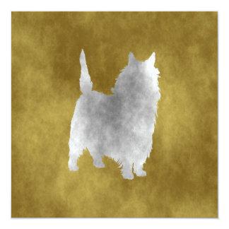"""Mojón Terrier Invitación 5.25"""" X 5.25"""""""